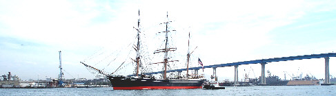 Star of India in San Diego Bay